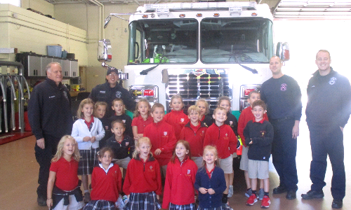 St. Jude School Participates in Fire Safety Week